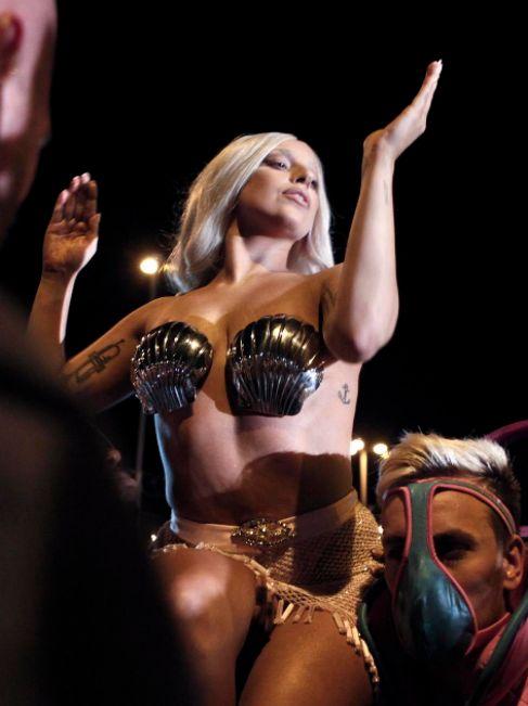 Lady Gaga, en un concierto.