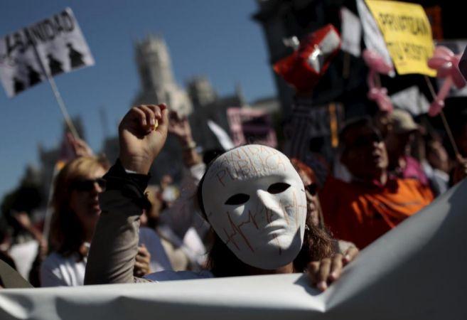 Manifestación en Madrid en octubre de 2013 en defensa de la Sanidad...