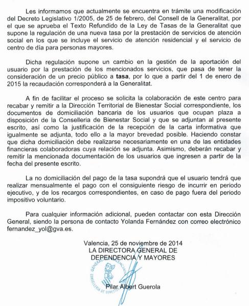 La carta de Bienestar que anuncia que los centros ya no podrán cobrar...