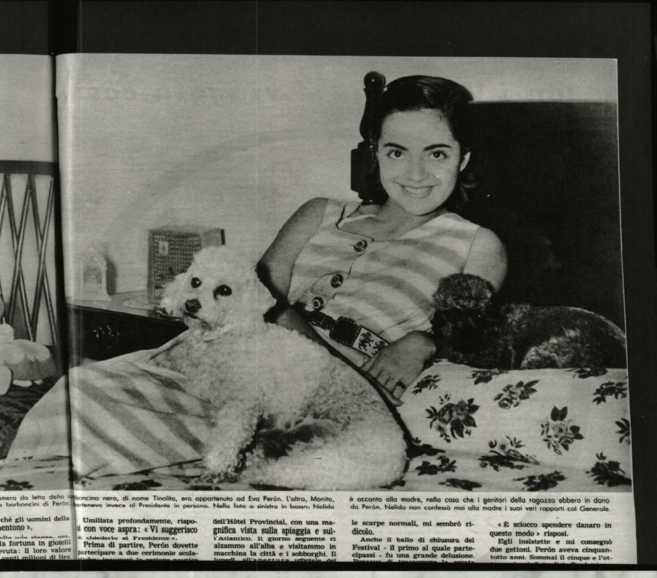 La jovencísima Nelly Rivas.