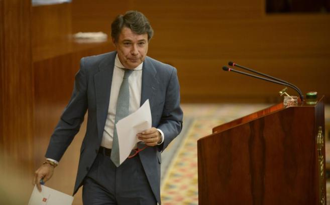 El presidente de la Comunidad de Madrid, Ignacio González en el...