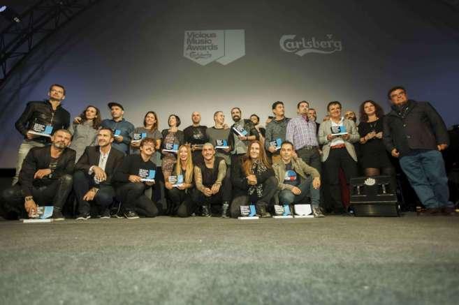 Los ganadores de esta edición, este miércoles en Madrid.