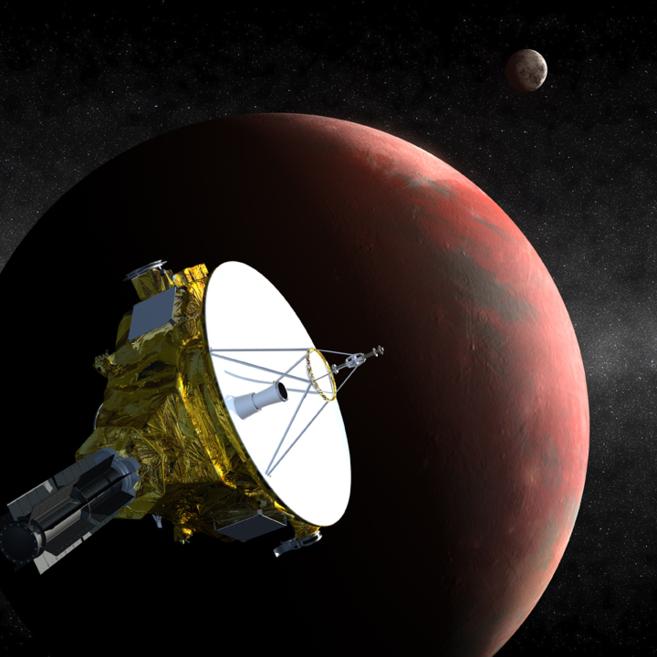 Recreación artística de la nave 'New Horizons'...