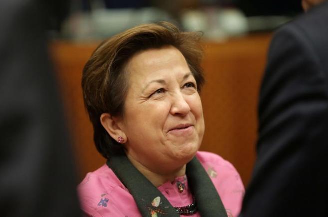 Pilar Farjas, el pasado 1 de diciembre en Bruselas.