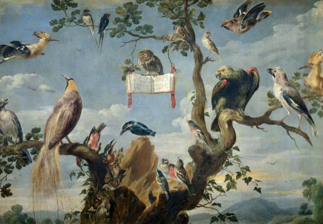 Obra Concierto de Aves, de Frans Snyders, expuesta en el Museo...