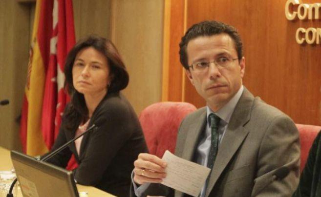 Belen Prado junto al ex consejero Javier Fernández Lasquetty.