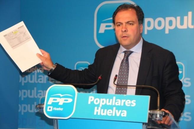 El alcalde de San Juan, Juan Carlos Duarte, cuando denunció el impago...
