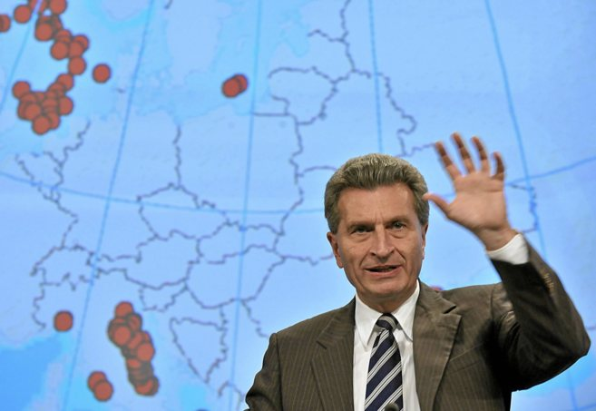 El comisario europeo Günther Oettinger.
