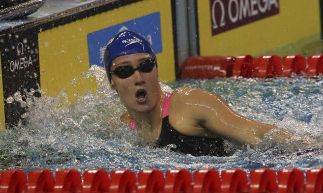 Mireia Belmonte, durante una de las pruebas del Mundial.