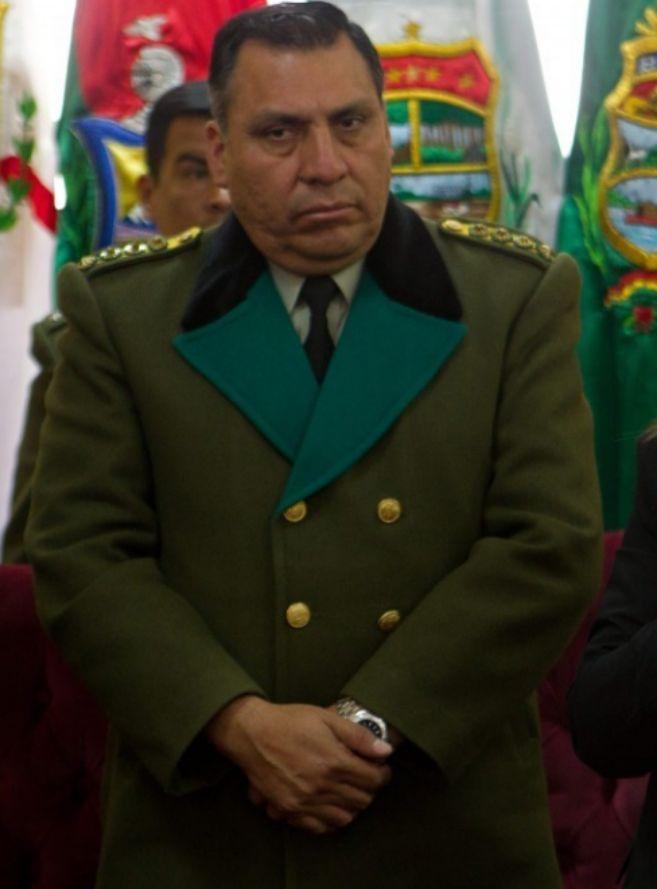Un comandante de policía boliviano.