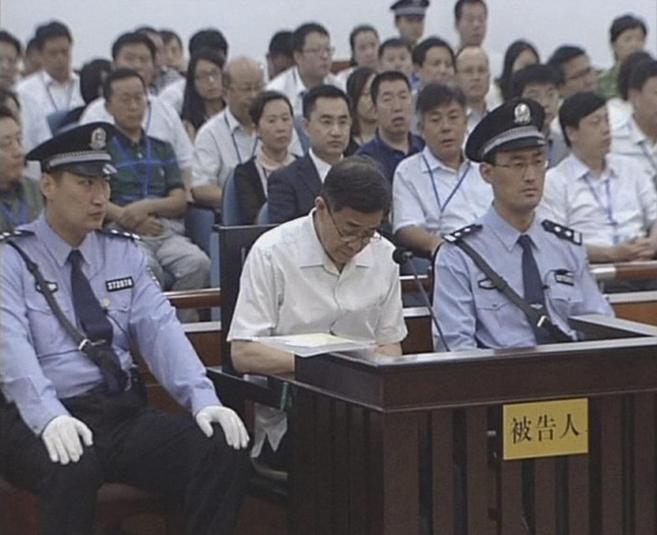 Juicio contra el ex líder del PCC Bo Xilai, en 2013.