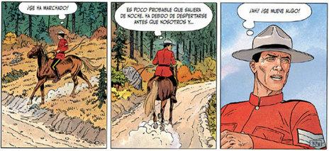 Escena de la última aventura de 'Trent' antes del original epílogo.