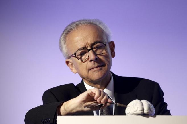 Antonio Damasio, durante su reciente visita a Madrid.