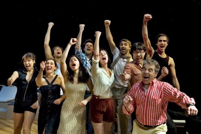 El equipo de 'Veraneantes', aquella primavera feliz de 2011.