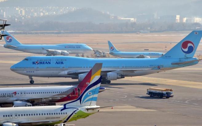 Aviones de Koean Air.