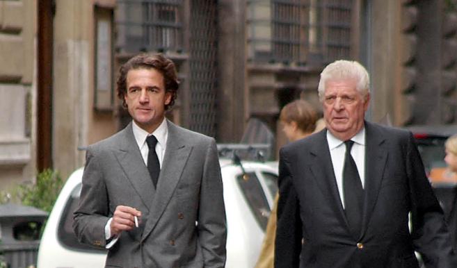Marco Torlonia y de Borbón y su sobrino, Alessandro Lecquio, en el...
