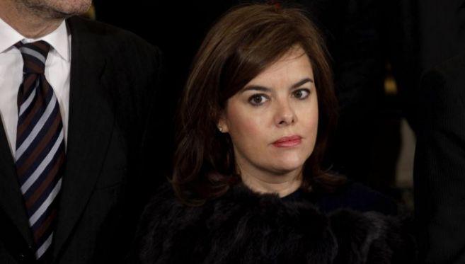 Soraya Saénz de Santamaría, el día de la Constitución.