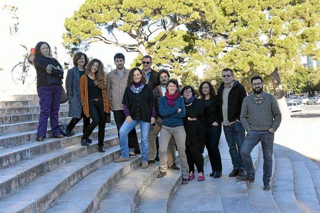El equipo de 'Claro que Podemos' en Valencia ciudad.
