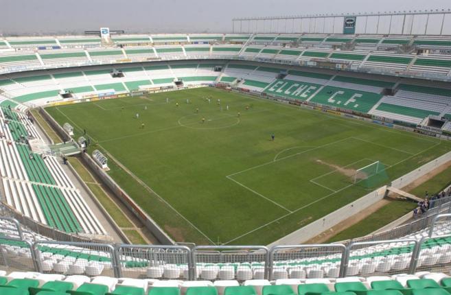 Panorámica del estadio Martínez Valero de Elche, lugar de los...