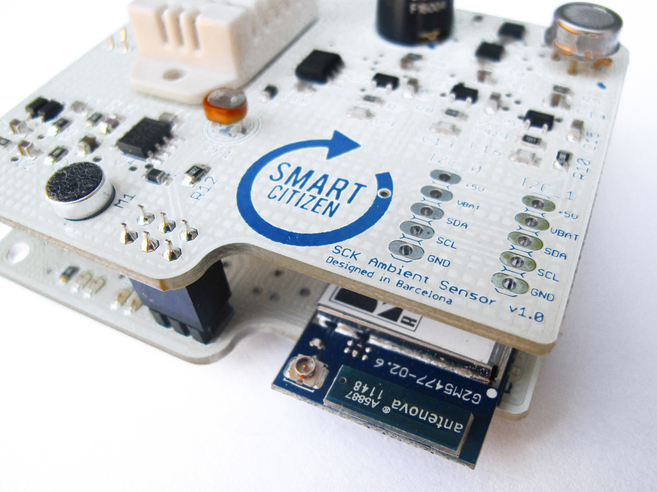 El sensor 'Smart Citizen', que mide la contaminación...