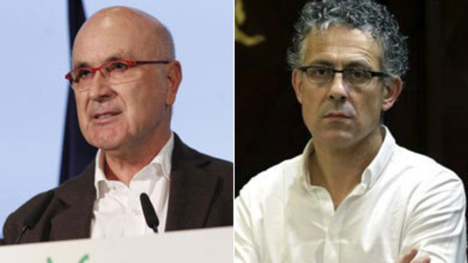 Josep Antoni Duran Lleida, de CiU, y Mikel Errekondo, de Amaiur.