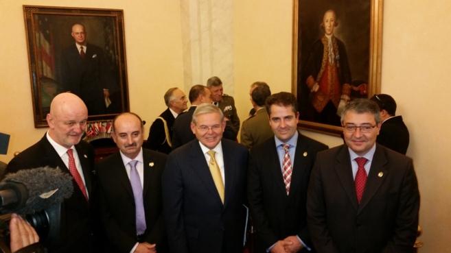 De izquierda a derecha, Gil-Casares, Campos, Menéndez, Conde y...