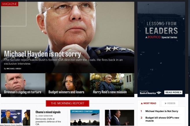 Captura de la edición de 'Politico' de EEUU.