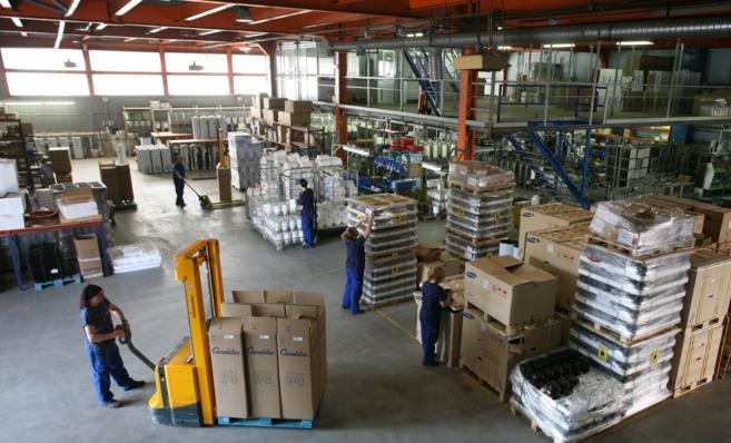 Imagen de la fábrica de la empresa catalana de fuentes de agua...