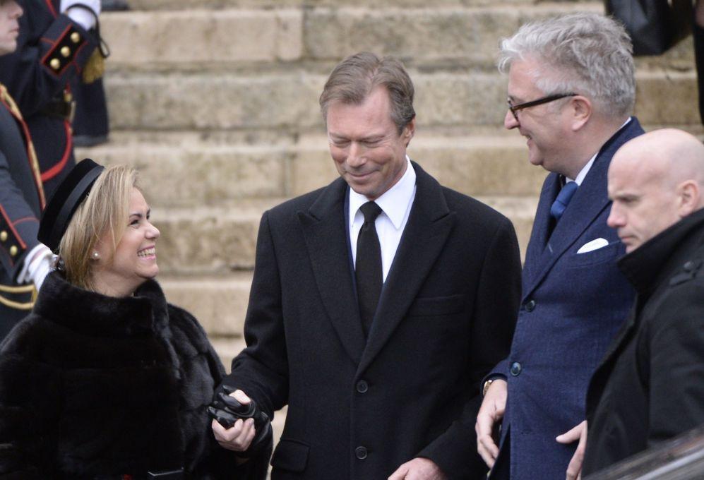 La Gran Duquesa Maria Teresa y el Gran Duque Enrique de Luxemburgo,...