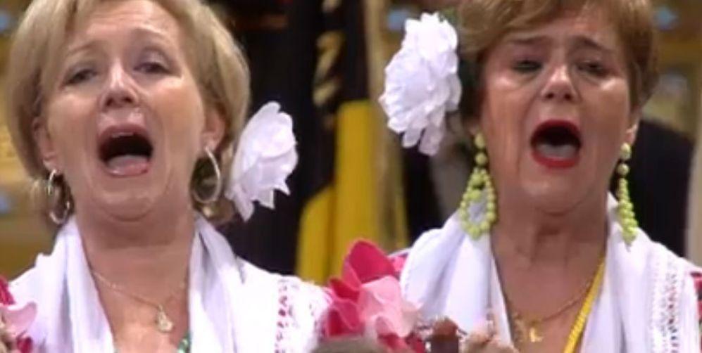 Durante la ceremonia, un coro rociero ha protagonizado uno de los...