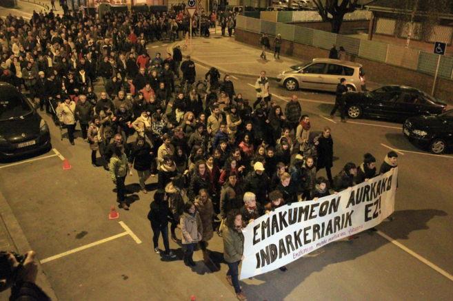 Manifestación de repulsa por los asesinatos de las dos mujeres en...