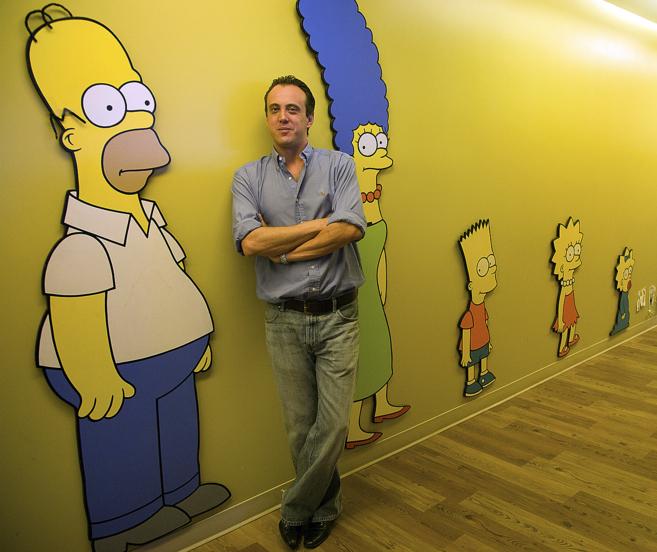 Javier Pineda, barcelonés de 44 años, en los estudios de la Fox -en...