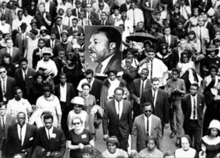 Marcha en memoria de King en 1968.