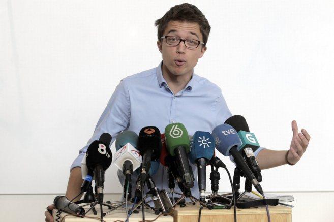 Iñigo Errejón, durante una rueda de prensa.