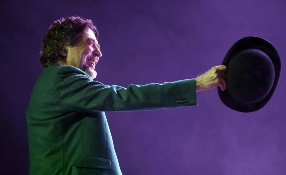 Joaquín Sabina, durante el concierto del sábado en el Palacio de los...