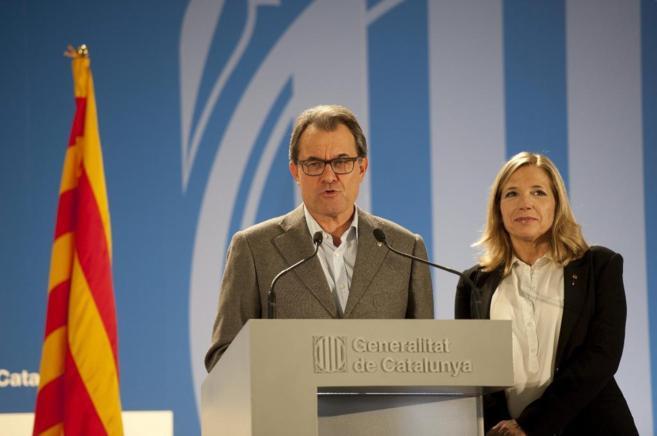 El Presidente de la Generalitat Artur Mas en el Pabellon italiano de...