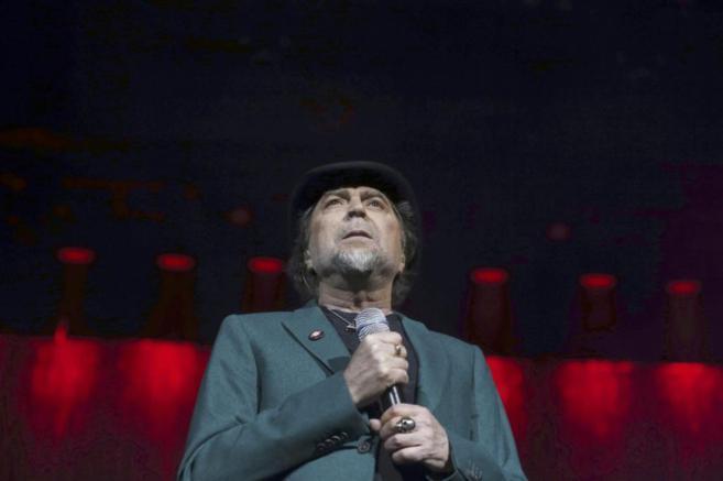 El cantante Joaquín Sabina durante el concierto celebrado el pasado...