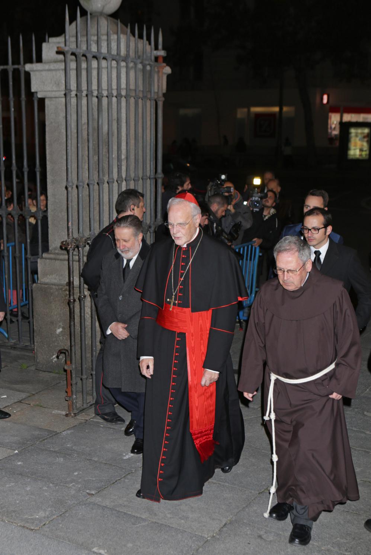 El cardenal Carlos Amigo Vallejo, durante el funeral de la duquesa de...