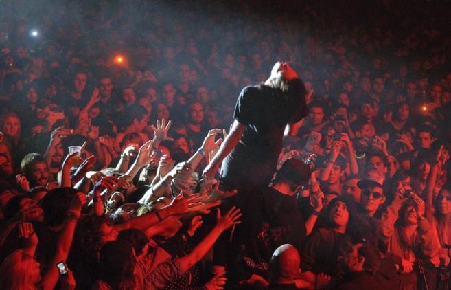 El público entregado en un concierto.