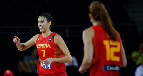 Alba Torrens, durante un partido de España.