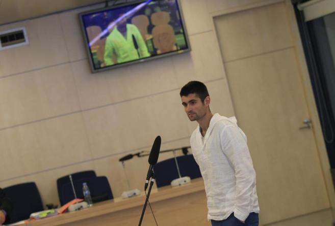 El etarra Beinat Aguinagalde, durante el juicio en la Audiencia...