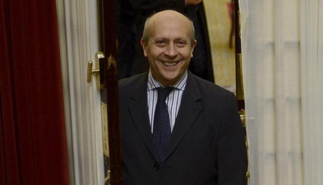 El ministro José Ignacio Wert, en el Congreso.
