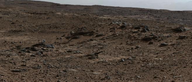 Vista del cráter Gale de Marte.