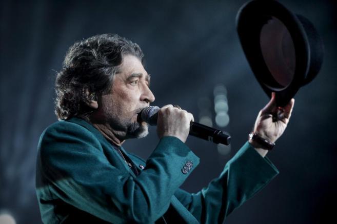 Joaquín Sabina durante su segundo concierto en Madrid.