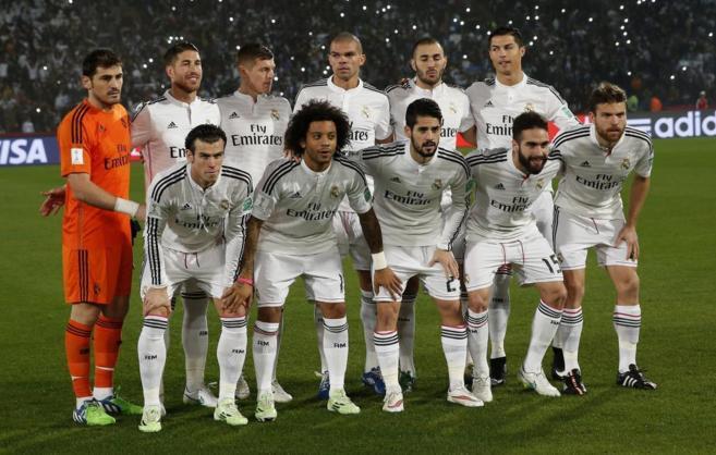 El Madrid posa antes del partido de semifinales del Mundialito.