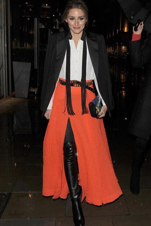 Palabra (o más bien 'look') de Olivia Palermo. ¡El naranja triunfa...