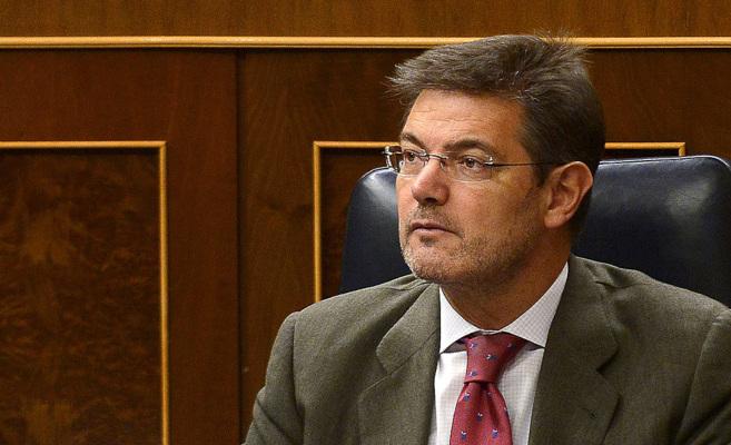 El ministro de Justicia, Rafael Catalá, ayer en el Congreso de los...