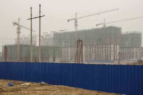 Desarrollo inmobiliario en construcción en  Xujiazhuang (China).