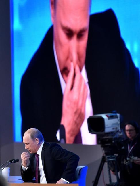 Putin durante su conferencia de prensa anual.