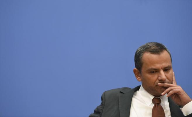 El ex parlamentario germano Sebastian Edathy, durante su rueda de...